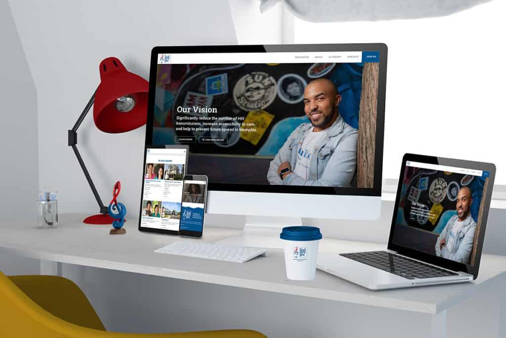 End HIV 901 website on desktop, mobile, tablet and laptop.
