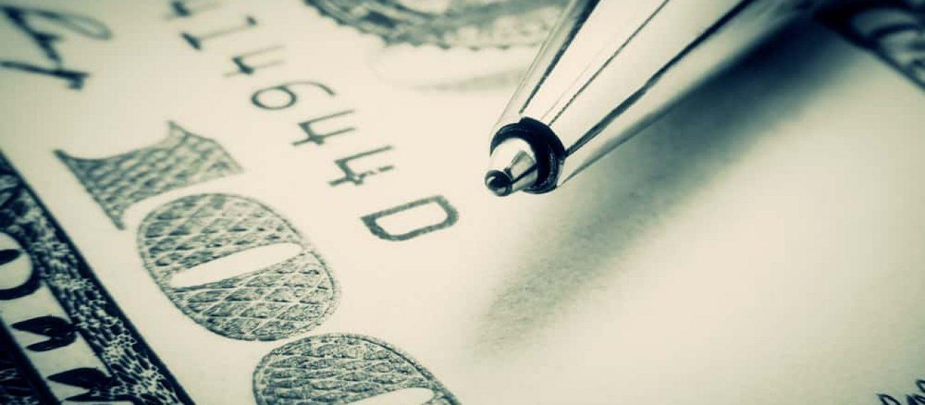 Pen,On,A,Dollar,In,Blue,Tone